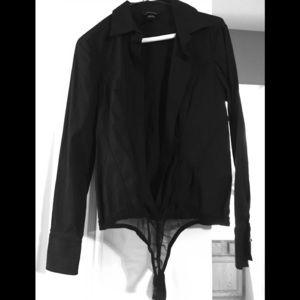Bodysuit button down blouse